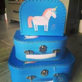 Set of 3 Unicorn Suitcase