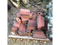 Red feature bricks for around a chimney approx 20