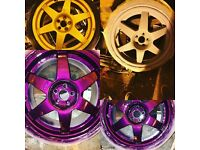Alloy wheel refurbing
