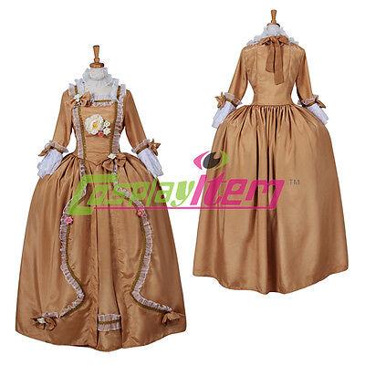 Marie Antoinette Halloween Costume (Vintage Marie Antoinette Baroque Rococo Dress Costume Halloween)