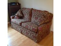 Two Multiyork Sofas with matching footstool