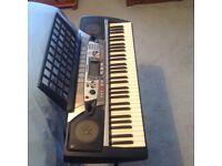 Yamaha keyboard & stand ( model PSR-282 )