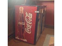 Coca Cola single door fridge/bottle cooler suitable pub club or man shed