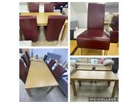 DINING TABLE PLUS 6 CHAIRS. DELIVERY AVAILABLE.