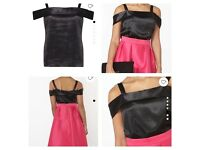 X 2 Black satin tops size 18 and size 20