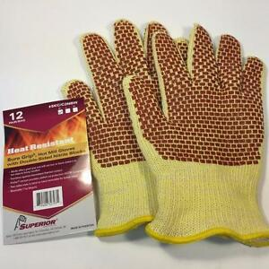 NEW Grill Oven BBQ Hot Mill Heat Resistant Gloves with Double-Sided Nitrile Blocks