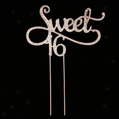 6 Kuchen Topper 16. Alles Gute zum Geburtstag Party (Sweet 16 Kuchen)
