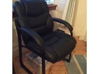 Black Leather Chair - office/occasional