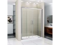 Create your own walk-in shower - 1400x900 tray and sliding door