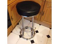 Black and Silver Kitchen Stool Good Condition