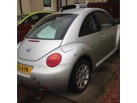 Volkswagen Beetle 2L, silver, great condition