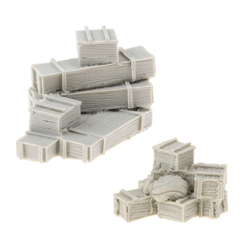 1%3A35+World+War+II+Soldier+Sand+Table+Accessories+Box+Bags++Crates+Miniatures