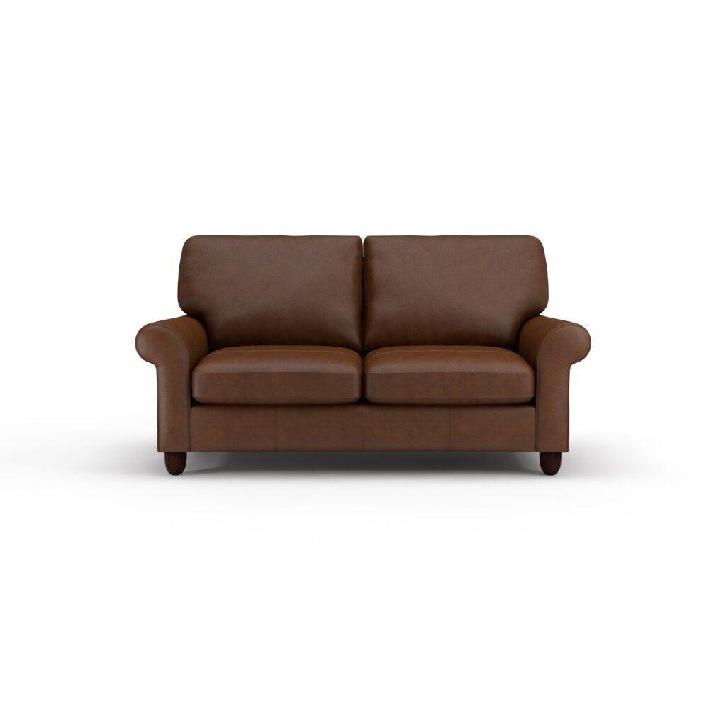 Fine Laura Ashley Abingdon 2 Seater Brown Leather Sofa Bed In Birmingham West Midlands Gumtree Download Free Architecture Designs Embacsunscenecom