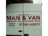 MAN & BIG VAN/SHORT NOTICE/FLAT HOUSE OFFICE REMOVALS/SINGLE ITEMS/ALL AREAS COVERED/CHEAP RATES