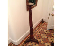 Beautiful antique mahogany turned torchere plant stand - Ideal for shabby chic.