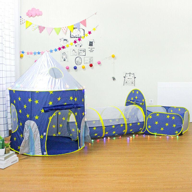 Children's Play Tent Space Capsule Yurt Three-piece Crawling