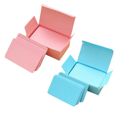 2 Boxes, Paper Blank Index Flash Cards DIY Greeting Pink & Blue, 90 Sheets](Blank Flash Cards)