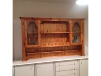 Dress top - Pine with Glass Cupboards