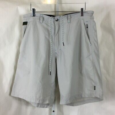 Howler Bros Mens Horizon Hybrid Shorts Nylon Ripstop Quick-Dry Light Gray Sz 38