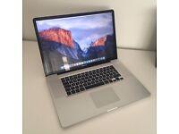 "Apple MacBook Pro 17"" inch Laptop 2.53 GHz i5 - 4GB RAM - 500GB HDD - OSX El Captain Mid 2010 Mac"