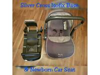 silver cross isofix base and seat