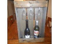 Wine rack shabby chic wooden.