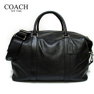 NWT Coach  F54765  Duffle Voyager in Leather - Black  MSRP $ 695.00