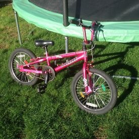 BMX cool girls pink Tony Hawk BMX with 18 inch wheels