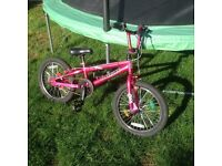 BMX cool girls pink Tony Hawk BMX with 18 inch wheels