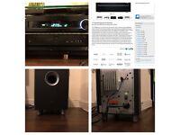 5.1 JBL Home Cinema+ONKYO 7.2 Receiver 3D-4K, BenQ - 3D Projector, Samsung Sound bar, PS4