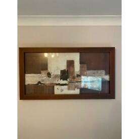Abstract picture in frame