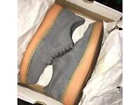 Nike Air Force 1 Grey Suede Gum Bottom Size 8