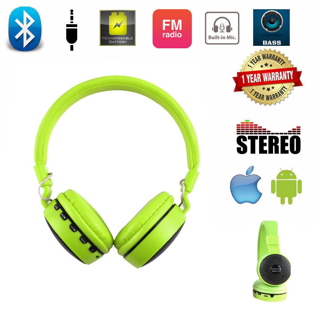 Best LED Handfree Headphones Wireless Sports Headset Stereo