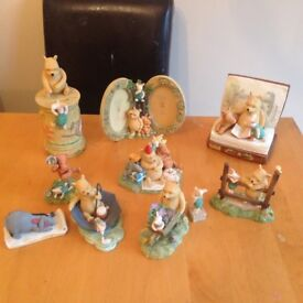 Classic Pooh Collectable Ornaments and shelving