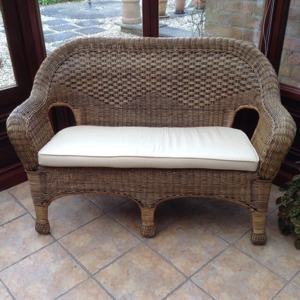 Scs Corner Sofa Sale Uk: Wicker Conservatory Furniture- 2 Seater Sofa, 2 Arm Chairs