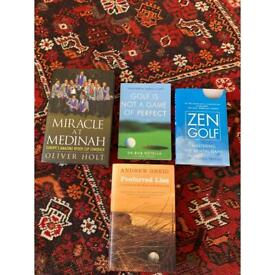 Selection of golf books (£6-£14)