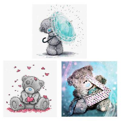 3 Sets Bear DIY 5D Diamond Embroidery Cross Stitch Kit for Kids Bedroom Childrens Diamond Set Cross