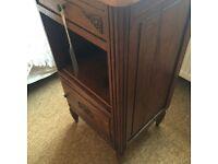 French Chateau Reclaimed Vintage Oak Bedside/Pot Cupboard