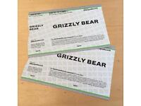 Two tickets for Grizzly Bear at Kingston College, 1 Oct 17