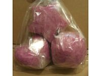 Homemade bath bomb pack of 3