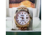 NEW!! Rolex, DateJust, all Gold with timestones. Complete with box, bag & paperwork. £140