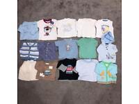 Baby boys 0-3 months tshirts tops jumper cardigan bundle