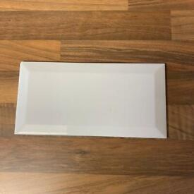 16 White ceramic tiles 10cm x 20cm
