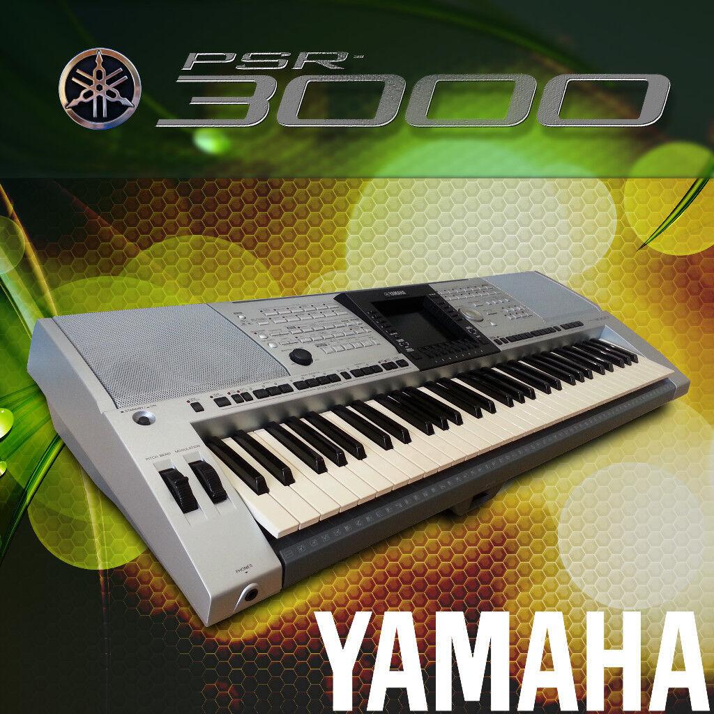 SERVICED Yamaha PSR-3000 + music rest + manual + USB stick (4000 styles)  WARRANTY   in Watford, Hertfordshire   Gumtree