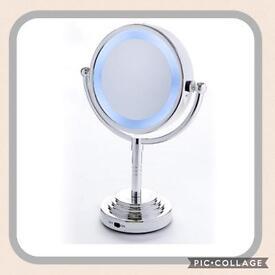 Double Sided Illuminated Mirror