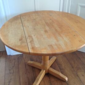 Kitchen table - round drop leaf table ex John Lewis