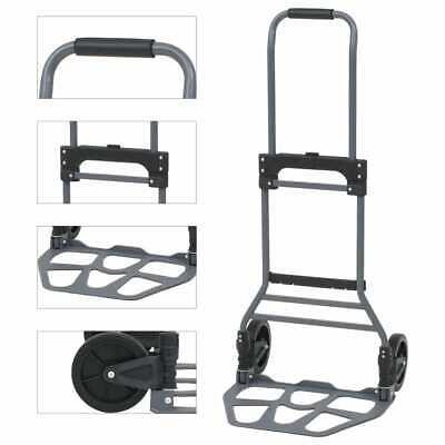 vidaXL Carretilla de Mano Plegable Aluminio 130 kg Carga Herramientas Taller
