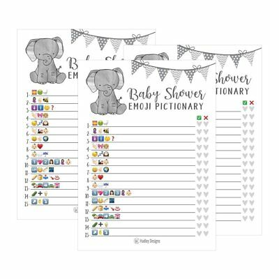 25 Elephant Emoji Pictionary Baby Shower Games Ideas For Men, Women, Kids,...](Baby Shower Games For Kids)