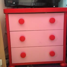 Bunk bed frame/ chest drawers