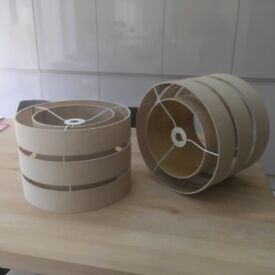 Lampshades beige qty 2 in very good condition and good size for ceiling applications